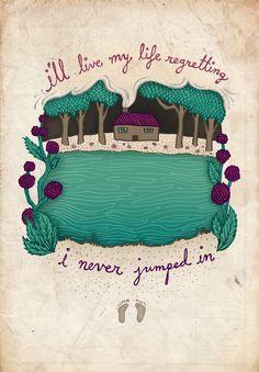 Alas, I cannot swim.   Laura Marling.  Illustration by BrynHobson.com