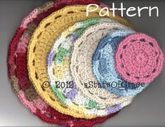 Facial Scrubbie and Washcloth PATTERN 6 Sizes Round | Etsy Pdf Patterns, Knitting Patterns, Crochet Patterns, Double Crochet, Single Crochet, Handmade Baby, Handmade Items, Etsy Handmade, Handmade Gifts