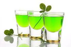 St. Patrick's Day and green schnapps
