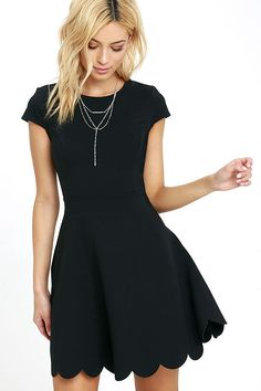 d20a846268 Proof of Perfection Black Skater Dress