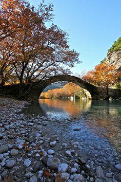 voidomatis old stone bridge Zagori Epirus - Greece
