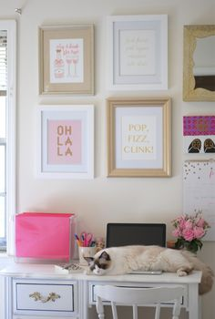 Our Loveliest Things print in great company on this gorgeous gallery wall over at Southern Curls & Pearls. | #forallthingslovelyxbisforbonnie #bisforbonnie