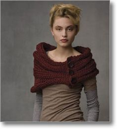 Capelet with Buttons: http://www.interweavestore.com/Knitting/Patterns/Capelet-with-Buttons.html