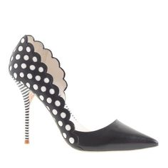 Sophia Webster for J.Crew, polka dot and striped heels: