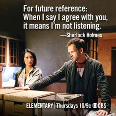 Meme Face-Off - Spring Season Finales 2013 - CBS Elementary Series, Movies And Tv Shows, Series Movies, Sherlock Holmes Elementary, Elementary My Dear Watson, Sherlock Quotes, Sherlock Bbc, Johnny Lee, Jonny Lee Miller