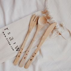 51raw re-useable bamboo cutlery