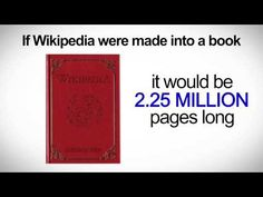 Did U Know? If Wikipedia were made into a book it would be over 2.25 Million Pages Long? Here is Social Media Video 2013: Social Media Revolution 4 was written by international best selling author and keynote speaker Erik Qualman. Video produced by equalman productions