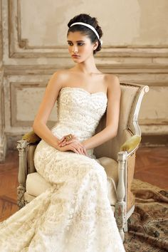 Lazaro. Another dress I adore! Love the vintage and romantic feel of his dresses.