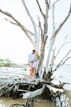 Little Talbot Island Driftwood Beach Engagement
