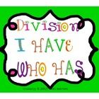 Freebie: This is a great way to practice division facts with your students.  This I HAVE/WHO HAS Division game has 12 cards and an answer key.  I divide my ...