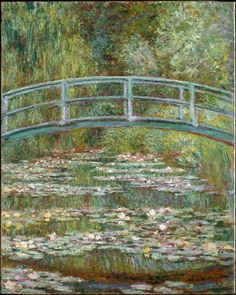Claude Monet - Bridge over a Pond of Water Lilies, 1899. Oil on canvas
