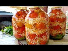 V zime si oblížete všetky prsty: Nakladané rajčiny s kapustou a mrkvou - stačí otvoriť pohár a máte najlepšiu prílohu! Salty Foods, G 1, Sauerkraut, Fresh Rolls, Preserves, Pickles, Salads, Food And Drink, Cooking Recipes