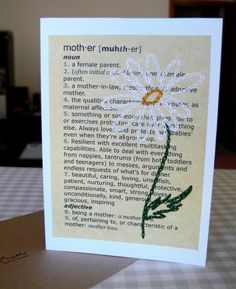 Mother's Day card (tips)