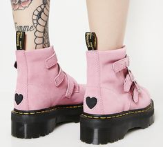 Martens X Lazy Oaf Pink Lo Buckle Boots Source by womenofedm shoes Dr. Martens, Red Doc Martens, Doc Martens Boots, Sock Shoes, Cute Shoes, Me Too Shoes, Pink Boots, Lace Up Boots, Buckle Boots