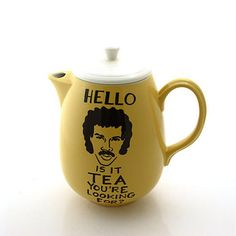 A teapot and a coaster for the Lionel Richie slash tea fan. | 21 Gifts For People Who Are Completely Obsessed With Tea