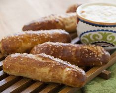 Get the wonderful flavor of pretzels in these fun sticks. Great for dipping.