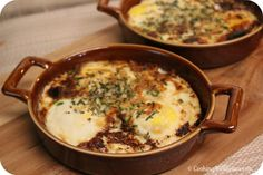 Recipe Redo: Herb Baked Eggs - Cooking in Stilettos - These Herb Baked Eggs are the perfect chic (and easy) dish for brunch! Savory Breakfast, Breakfast Time, Best Breakfast, Egg Recipes, Brunch Recipes, Breakfast Recipes, Breakfast Ideas, Recipies, Egg Dish