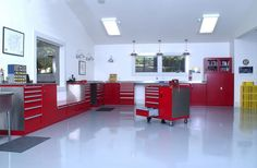 Red Garage - and it looks beautiful, time to fill it up with some traditional mild customs