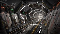Spaceship Interior, Futuristic Interior, Environment Concept Art, Environment Design, Science Fiction, 3d Mode, Starship Concept, Sci Fi Ships, Futuristic Technology