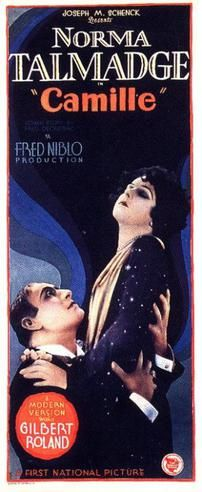 Theatrical poster for the 1927 silent film Camille starring Norma Talmadge and Gilbert Roland. The film is lost. Old Film Posters, Classic Movie Posters, Cinema Posters, Classic Films, Art Posters, Silent Film Stars, Movie Stars, Old Movies, Vintage Movies