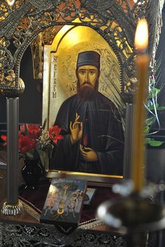 Saint Ephraim of nea makri Maronite Church, Neo, Byzantine Icons, Orthodox Christianity, Orthodox Icons, Sacred Art, Christian Art, Holy Spirit, Saints