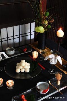 かめ代さん家のキャンドル卓「お月見のテーブル 大人のキャンドル卓」 || キャンドルを使って食卓を彩る。おうちごはんのあかり演出、ホームパーティーの提案。