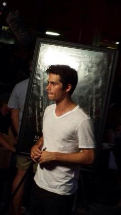 Dylan at the fan screening of The Maze Runner at Comic Con 14