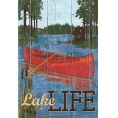 Rustic Lake Life Flag