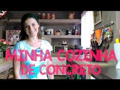 A COZINHA DE CONCRETO DA ERIKA - TOUR MOSTRANDO A REFORMA E DECORAÇÃO - YouTube