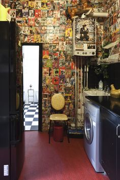 bohemian loft apartment ...the vintage pinup wall art is so rock n roll