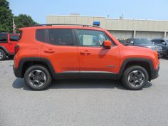 Our first 2015 Jeep Renegade Latitude with a manual transmission in Omaha Orange