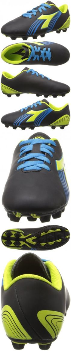 eae6483b9dc0 Diadora Soccer Avanti MD JR Soccer Shoe (Toddler/Little Kid/Big Kid),Black/Fluorescent  Yellow/Blue,5.5 M US Big Kid