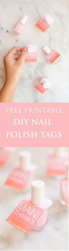 Easy Mani Thanks Free Printable Nail Polish Favors