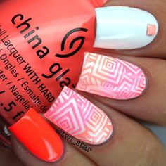 Cute stamped nails