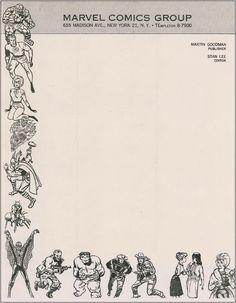 Stan Lee, Marvel Comics Group, 1964    http://www.letterheady.com/post/435400748/stanlee