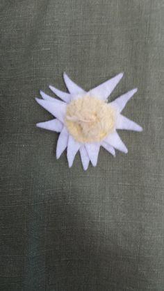 Sacred Tradition / Saguaro Flower magnet pin www.deborahmayaan.com Wearable Art, Brooch, Traditional, Fabric, Flowers, Tejido, Tela, Floral, Brooches
