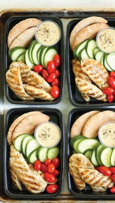 Copycat Starbucks Chicken and Hummus Bistro Box - Meal prep for the week ahead! Filled with hummus, chicken strips, cucumber, tomatoes and wheat pita. snacks, Copycat Starbucks Chicken and Hummus Bistro Box Lunch Snacks, Lunch Recipes, Diet Recipes, Healthy Snacks, Healthy Eating, Healthy Recipes, Diet Meals, Recipes With Hummus, Healthy Drinks