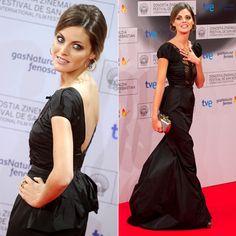 Amaia Salamanca, con un precioso reogido, lleva el 'glamour' a San Sebastián.