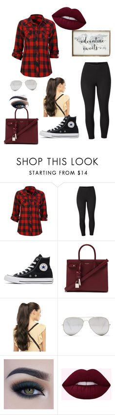 """""""Adventure Awaits"""" by foreveryoung4321 on Polyvore featuring Full Tilt, Venus, Converse, Yves Saint Laurent, Sunny Rebel, Too Faced Cosmetics and plus size clothing"""