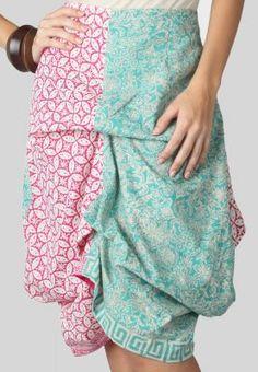 love the color combination - Tre's Genie Batik Skirt