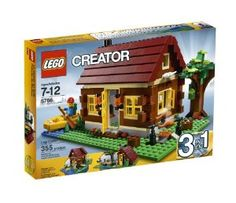 LEGO Creator Log Cabin 5766 by LEGO Creator. $29.96. Minifigure with backpack, paddle and canoe included. 355 elements. Also features open fire with chicken, wooden logs, tree, opening doors and windows and horn ornament. 3 models in 1: Rebuilds into a country retreat or a river hut. Features removable, unique dark red roof and hinging wall section for greater access. From the Manufacturer                Packed with great details, such as an open fire with chicken, wooden logs,...