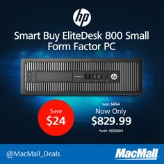 Save 27% on an #HP EliteDesk 800 3.2GHz quad core small form factor PC. #DailyDeal
