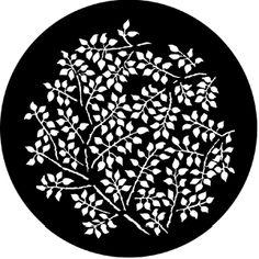 Branching Leaves (Negative) - RSS 77864 - Stock Gobo Steel