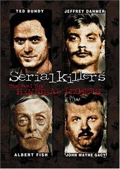Serial Killers: Real Life Hannibal Lecters: This compelling DVD examines a select group of real life monsters including Ted Bundy, Jeffrey Dahmer, Albert Fish, John Wayne Gacy, and Andrei Chickatilo who were all responsible for more than 150 human lives! Scary Movies, Horror Movies, John Wayne Gacy, Murder, Forensic Psychology, True Crime Books, Ted Bundy, Best Documentaries, Jeffrey Dahmer