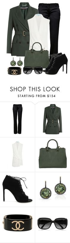"""""""Work wear"""" by gallant81 ❤ liked on Polyvore featuring Balmain, Rochas, Michael Kors, Yves Saint Laurent, Anne Sisteron, Chanel and Chloé"""