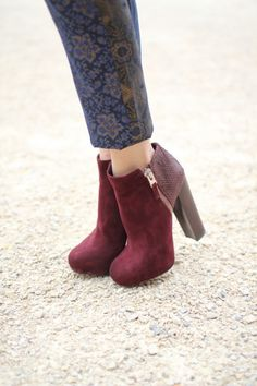 red pump boots