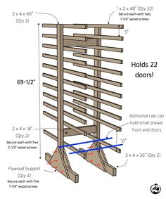 Cabinet Door Drying Rack Magnificent Diy Cabinet Door Drying Rack From Pvc Pipe & 2X4 Lumber Wood Design Inspiration