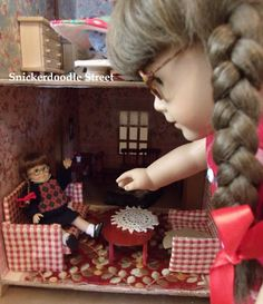 My Mini Molly Collection Mini American Girl Dolls, American Girl House, American Girl Crafts, American Girl Clothes, Ag Doll House, Doll Houses, Dollhouse Design, Ag Doll Clothes, Bitty Baby