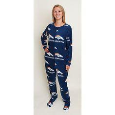 Women's Pro Line Denver Broncos Chic Aviator Pullover Hooded ...