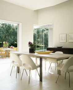 Modern in Marin. Dining room by Dirk Denison Architects.